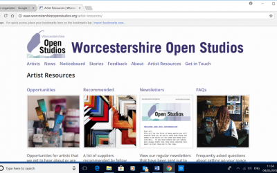 Worcestershire Open Studios – Excellent organizing team