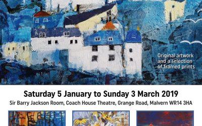 Exhibition & Sale of my artwork, Coach House Theatre, Malvern